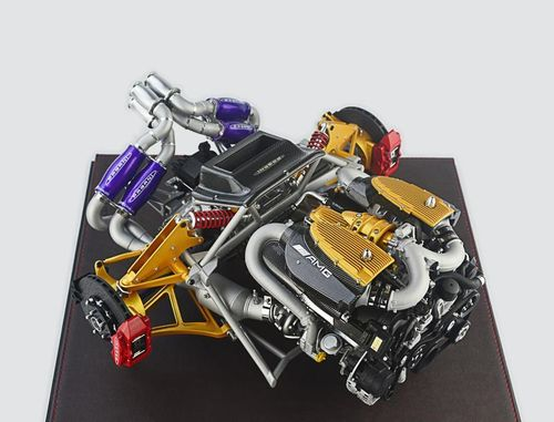 Pagani Huayra Engine 1/6