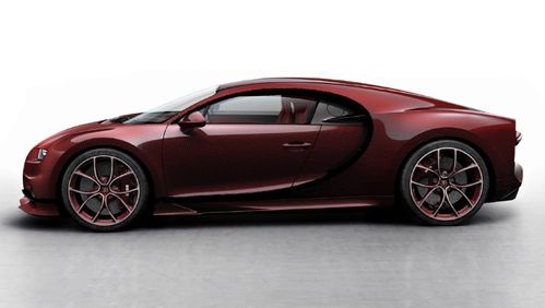 Bugatti Chiron SkyView Red Carbon / Black 1/18